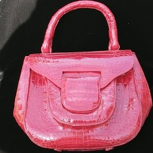 Nancy Gonzalez Red Croc Purse
